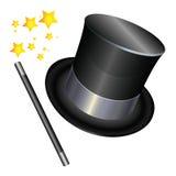 Chapéu do mágico no fundo branco Imagens de Stock