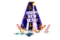 Chapéu do partido do ano novo feliz Imagens de Stock