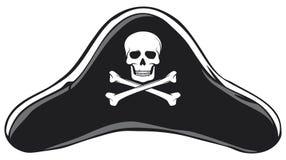 Chapéu do pirata ilustração stock
