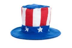 Chapéu do tio Sam no branco Imagem de Stock Royalty Free