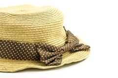 Chapéu do Weave Fotografia de Stock Royalty Free