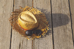 Chapéu do Weave Fotografia de Stock