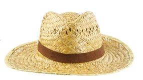 Chapéu do Weave no fundo do whiite Fotos de Stock