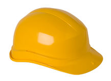 Chapéu duro amarelo Fotos de Stock