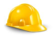 Chapéu duro da construção