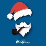 Chapéu e barba de Santa Claus Imagens de Stock