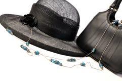 Chapéu e bolsa do vintage Imagens de Stock