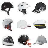 Chapéu e capacete Imagens de Stock Royalty Free