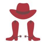 Chapéu e carregadores de cowboy Imagens de Stock