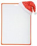 Chapéu e espaço em branco do Natal Fotografia de Stock Royalty Free