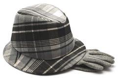 Chapéu e luvas das mulheres Imagens de Stock