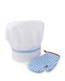 Chapéu e luvas do cozinheiro chefe Foto de Stock