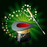 Chapéu e varinha mágicos Foto de Stock Royalty Free