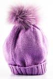 Chapéu feito a mão de lãs Fotos de Stock Royalty Free