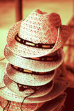Chapéu feito a mão feito da grama, estilo do vintage Foto de Stock Royalty Free