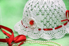Chapéu feito malha Fotografia de Stock Royalty Free
