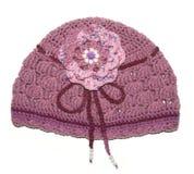 Chapéu feito malha handmade Imagem de Stock