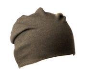 Chapéu feito malha isolado no fundo branco Imagem de Stock