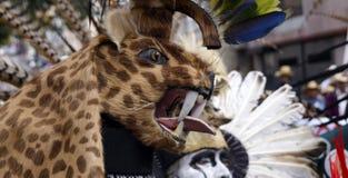 Chapéu felino principal do guerreiro Fotografia de Stock