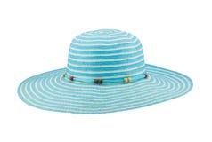 Chapéu flexível ciano isolado no fundo branco fotos de stock