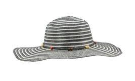 Chapéu flexível preto isolado no fundo branco Fotografia de Stock Royalty Free