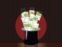 Chapéu mágico do dinheiro Imagens de Stock Royalty Free