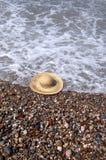 Chapéu na praia Imagens de Stock