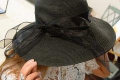 Chapéu negro Imagens de Stock