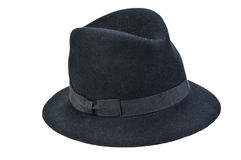Chapéu preto de Fedora Foto de Stock