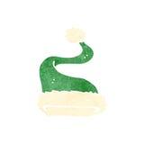 chapéu retro do Natal do verde dos desenhos animados Imagens de Stock