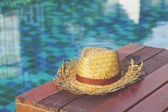Chapéu velho do weave Imagens de Stock Royalty Free