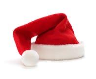 Chapéu vermelho de Papai Noel fotografia de stock royalty free