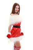 Chapéu vermelho de Papai Noel Imagem de Stock
