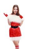 Chapéu vermelho de Papai Noel Imagens de Stock