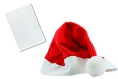 Chapéu vermelho de Papai Noel claus Imagens de Stock Royalty Free