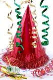 Chapéu vermelho do partido fotografia de stock royalty free