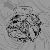 Chapéu vestindo do buldogue ilustração do vetor
