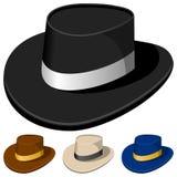 Chapéus coloridos para homens ilustração do vetor