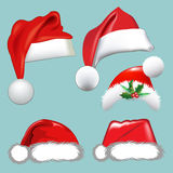 Chapéus da coleção do Natal Fotografia de Stock Royalty Free
