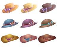 Chapéus da praia do verão Imagem de Stock Royalty Free
