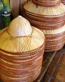 Chapéus de bambu Imagens de Stock