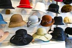 Chapéus de feltro das mulheres Imagem de Stock Royalty Free
