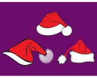 Chapéus de Noel Imagem de Stock
