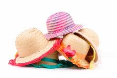 Chapéus de palha Fotos de Stock Royalty Free