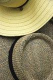 Chapéus de palha Fotografia de Stock Royalty Free