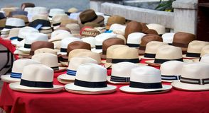 Chapéus de Panamá Imagens de Stock Royalty Free