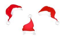 Chapéus de Santa do Natal Imagem de Stock Royalty Free