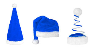 Chapéus diferentes de Santa Claus Fotos de Stock Royalty Free