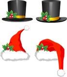 Chapéus do Natal Foto de Stock