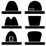 Chapéus dos ícones para homens Imagem de Stock Royalty Free